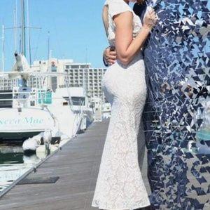 Betsy & Adam White Dress